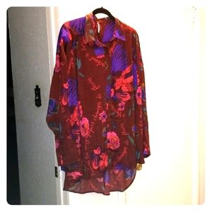 Free People oversized blouse size M